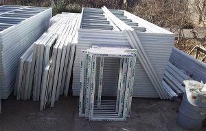 پنجره های ساخته شده و اماده ارسال برای پروژه باغستان واقع در خادم اباد