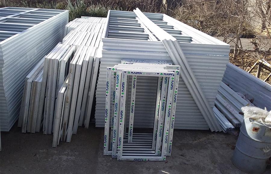 پنجره های ساخته شده برای پروژه